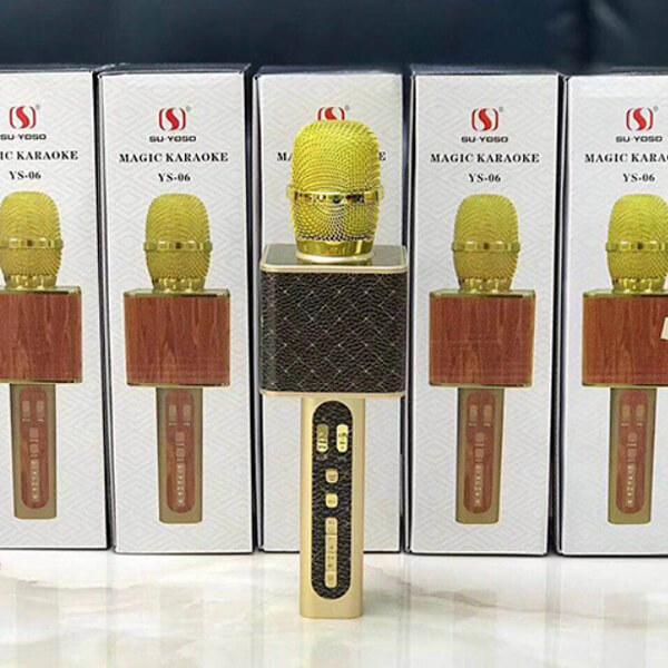 Беспроводной караоке микрофон «YS-06» (черный с золотом) от 2 600 руб