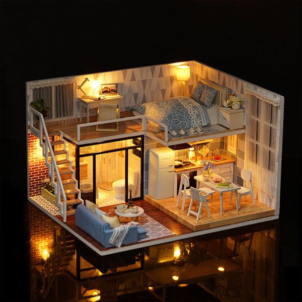 «Домик для куклы» с подсветкой и музыкой (голубой) от 2 790 руб