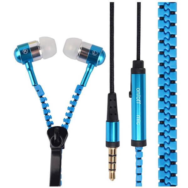 Наушники на молнии «Zipper» (гарнитура с микрофоном)