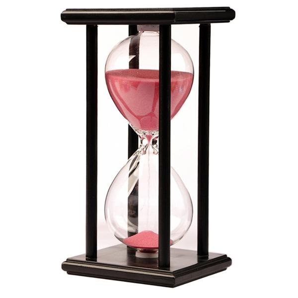 Песочные часы в деревянном каркасе на 1 час от 1 590 руб
