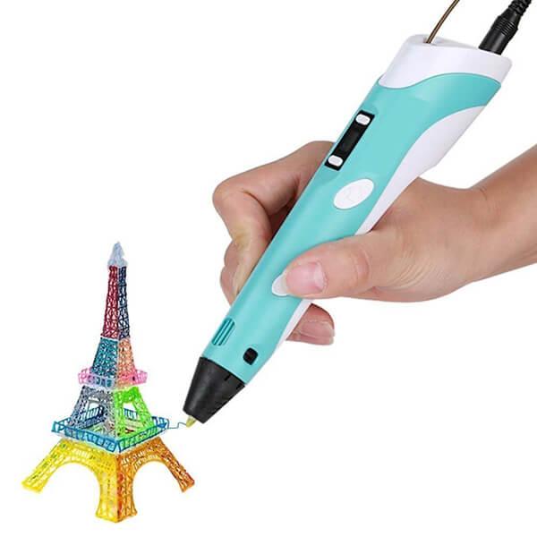 3d ручка с LCD дисплеем 3D PEN-2 (RP-100B синий)